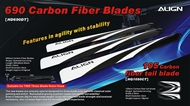 Carbon Fiber Main Blade (For Three-blade rotor head)