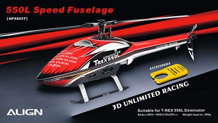 550L Speed Fuselage – Red & White