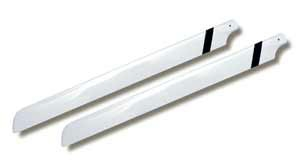 CARBON MAIN ROTOR BLADES, 680 mm - 4mm bolt