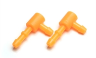 L TYPE NIPPLE FOR FUEL CAN CAP SET - ORANGE