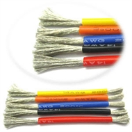 Silicone wire 24AWG 0.08 - black (½m)