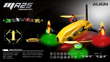 MR25 Racing Quad Super Combo - Yellow